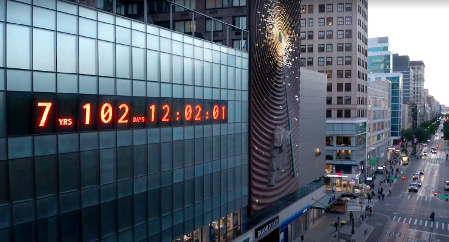 Climate Clock in NYC