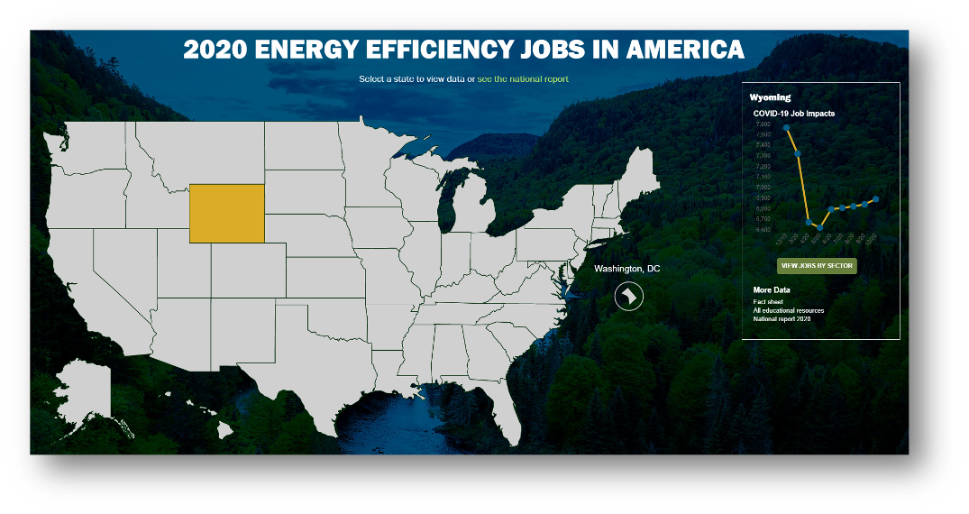 map of united states showing energy jobs